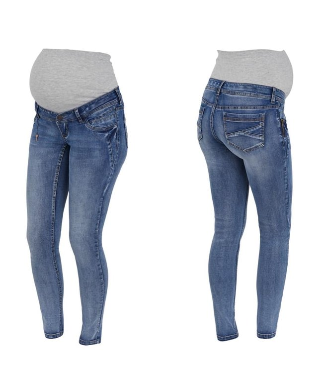 Mamalicious Mlasja dirty wash slim jeans