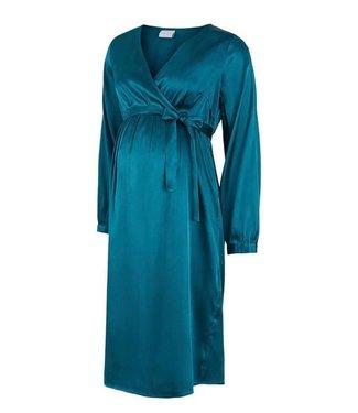 Mamalicious Mlshelby dress teal