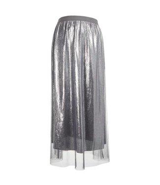 Mamalicious Mlmandy mesh jersey midi skirt silver