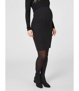 Mamalicious Mlluna coated pintuc skirt elastic