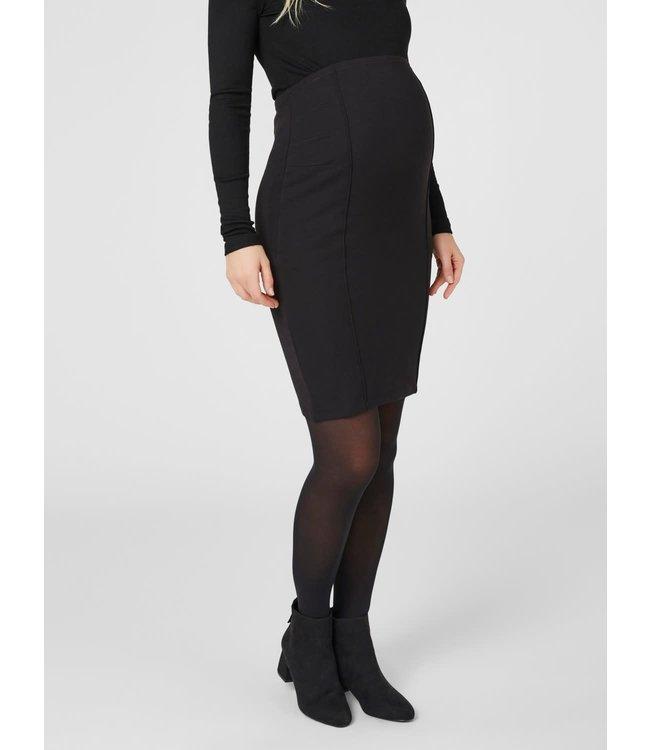 Mlluna coated pintuc skirt elastic