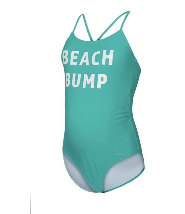 Mlminia badpak beachbump print groen