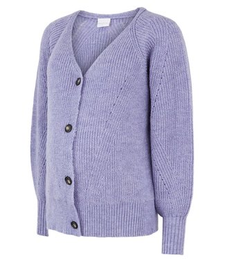Mamalicious Mlaileen knit cardigan violet pastel