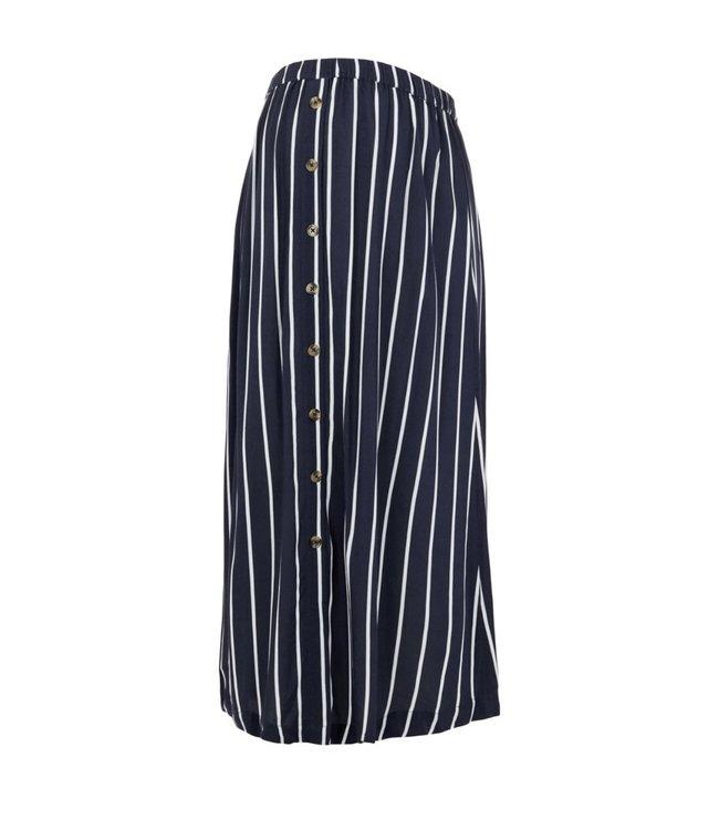 Mlsinem woven midi skirt navy stripes white