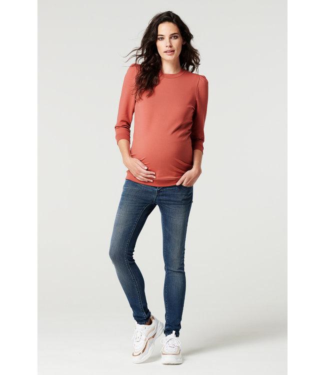 Sweater 3/4 slv Marsala