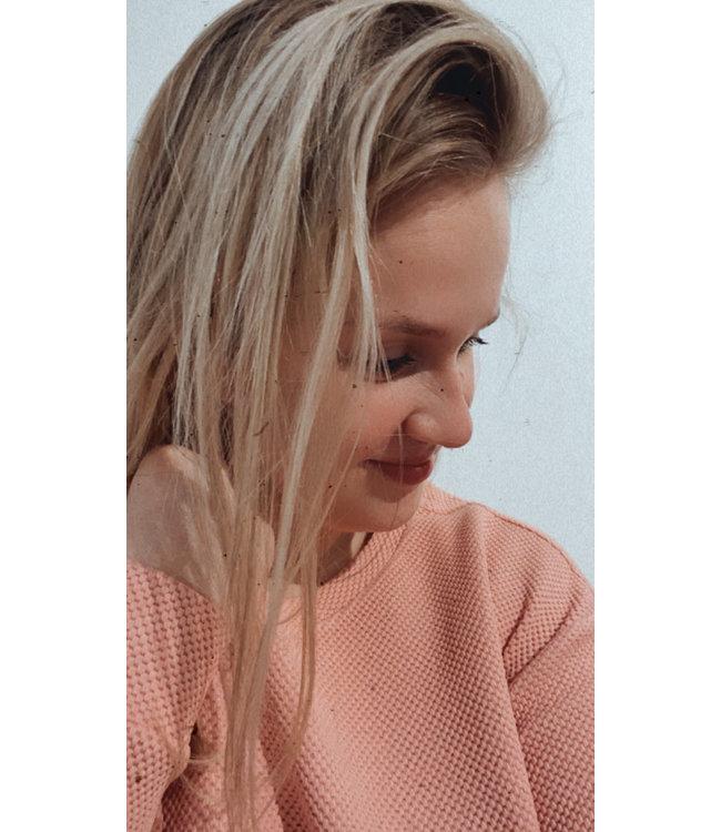 Sweater ls Aimee rose tan