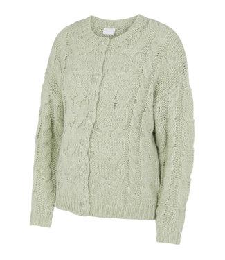 Pieces maternity Pcmfittal cardigan knit sage