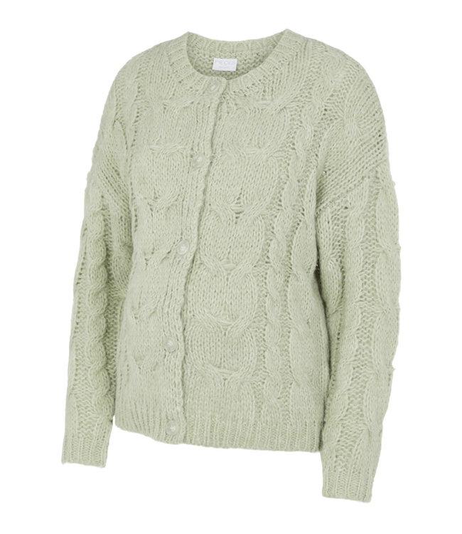 Pcmfittal cardigan knit sage