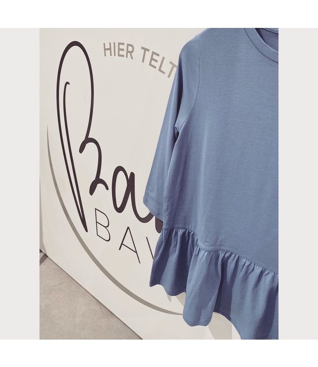 Mlelay 3/4 slv jersey top blue