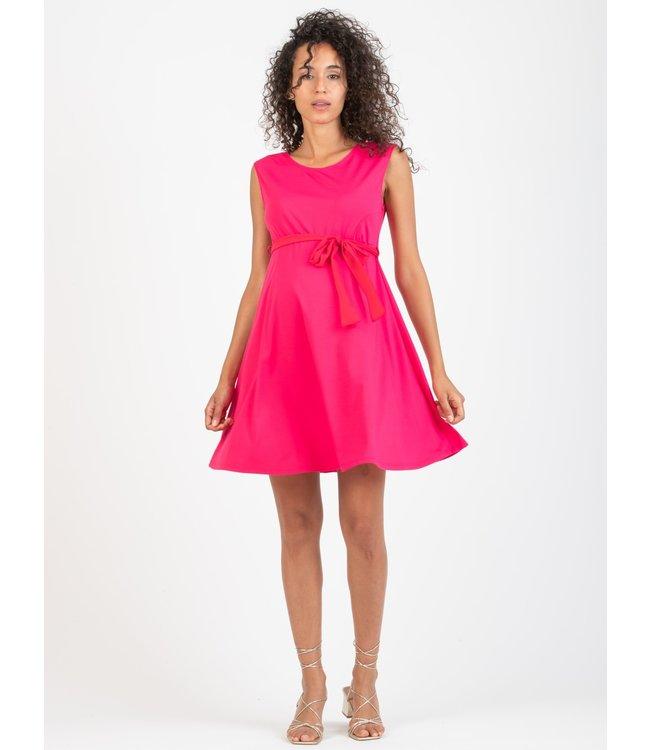 Attesa Jurk Svasato lint chiffon roze