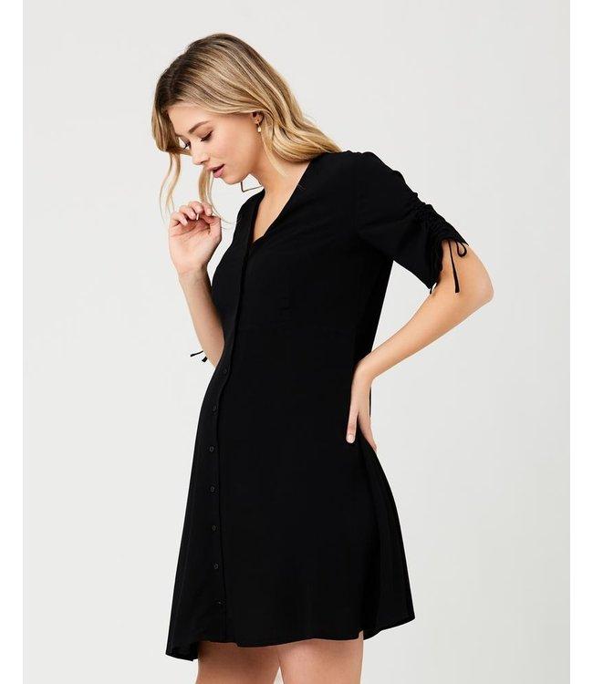 Mae Button Through dress zwart