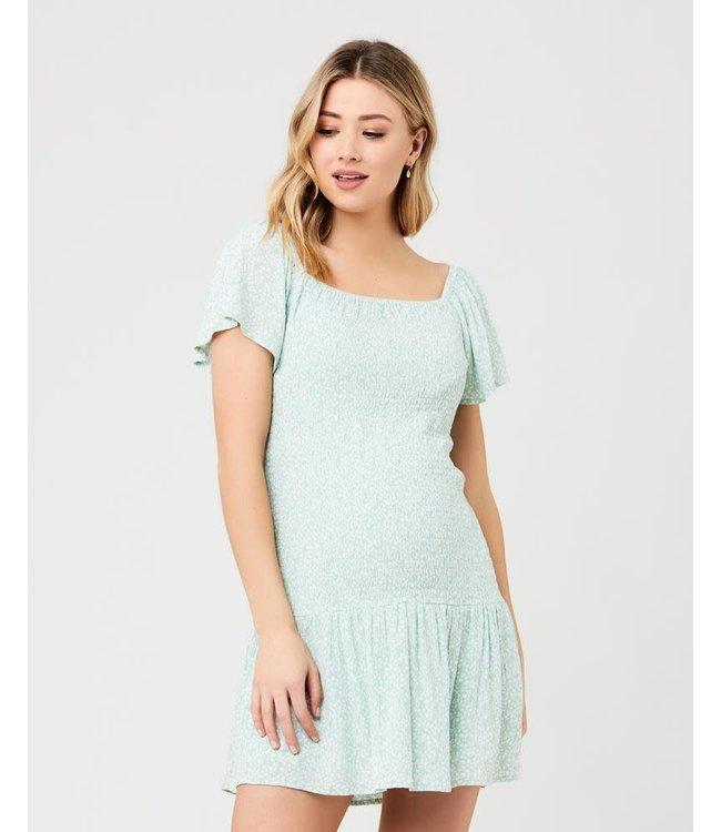 Betsie shirred dress green