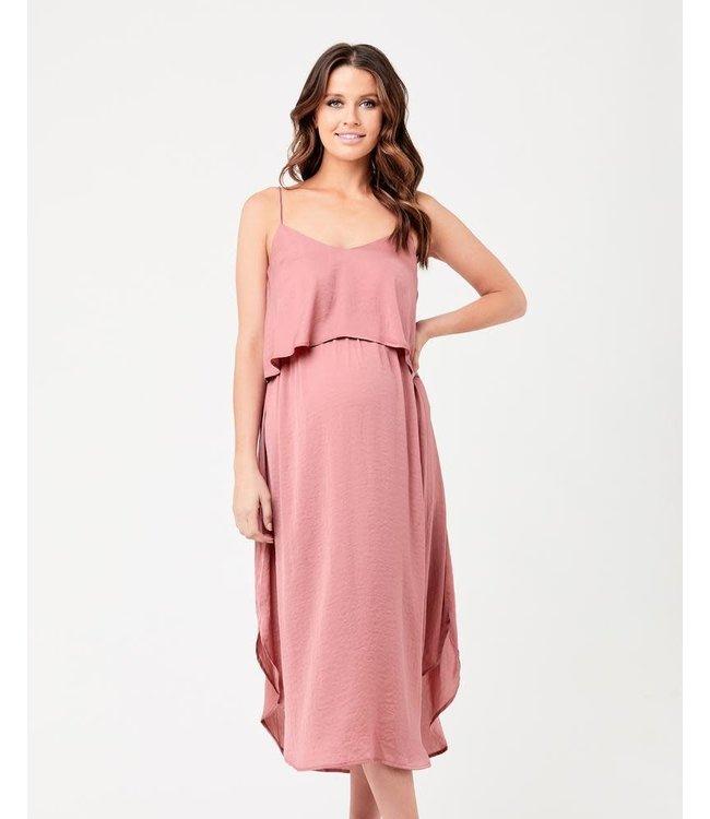 Nursing slp dress pink