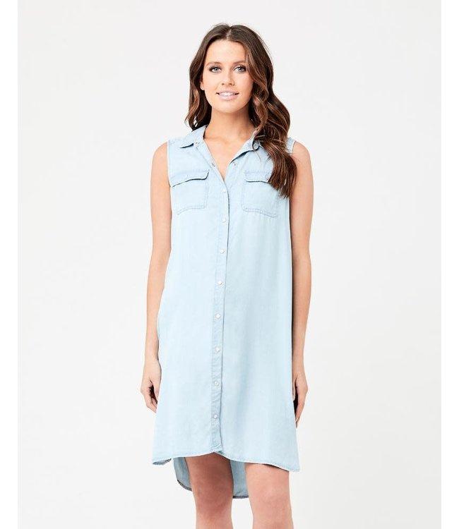 Weekend denim sleeveless dress