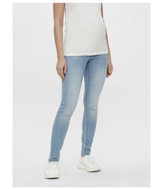 Mamalicious Mljulia slim lightblue washed jeans