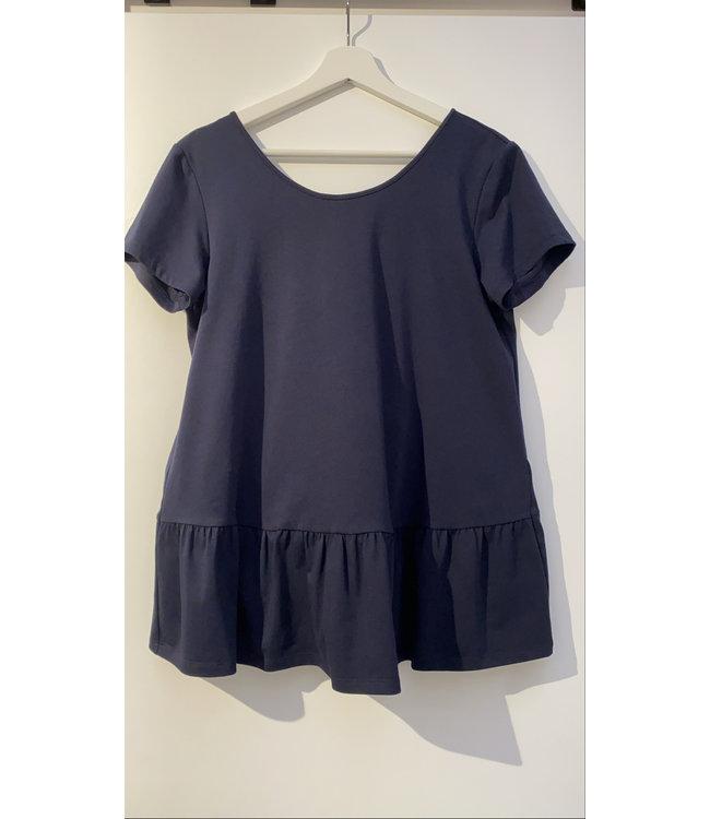Tshirt Peplo blauw