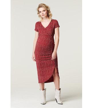 Supermom Dress nursing Pebbles red