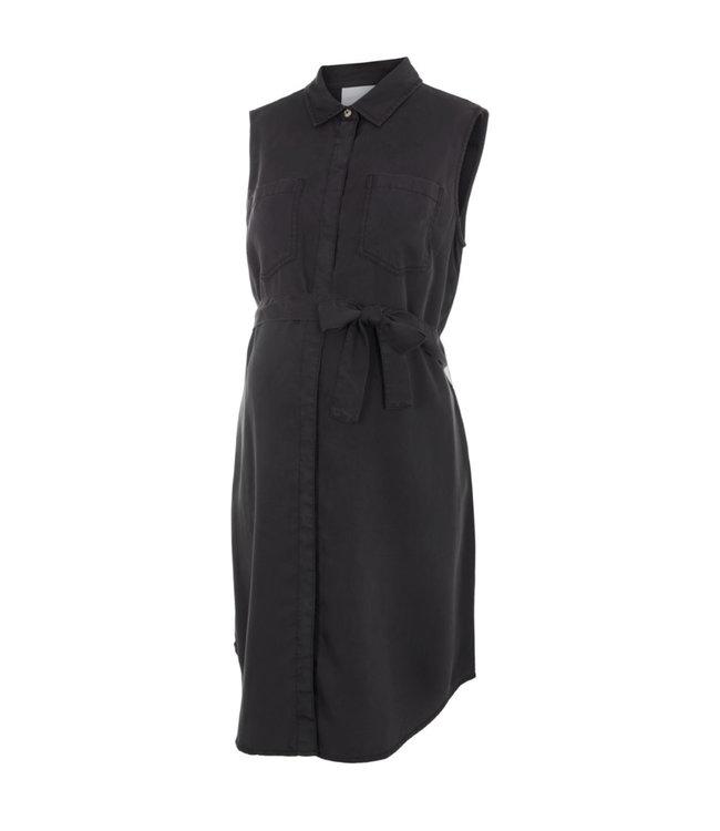 Mlmaddie black tencel dress