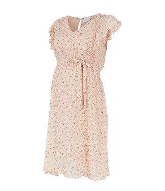 Mamalicious Mlrebeca capsleeve peach dress