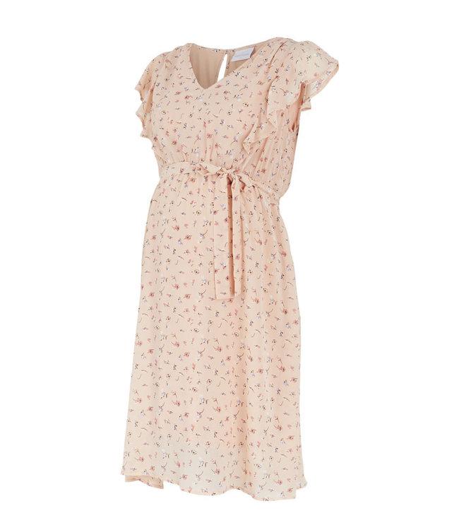 Mlrebeca capsleeve peach dress
