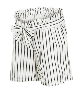 Mamalicious Mlemmy shorts black white stripes