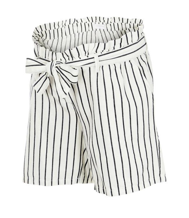 Mlemmy shorts black white stripes