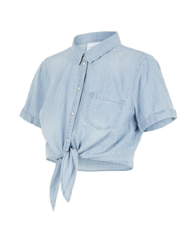 Mlhayle cropped denim shirt