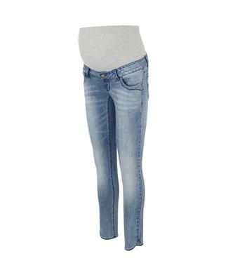 Mamalicious Mllaval slim split jeans