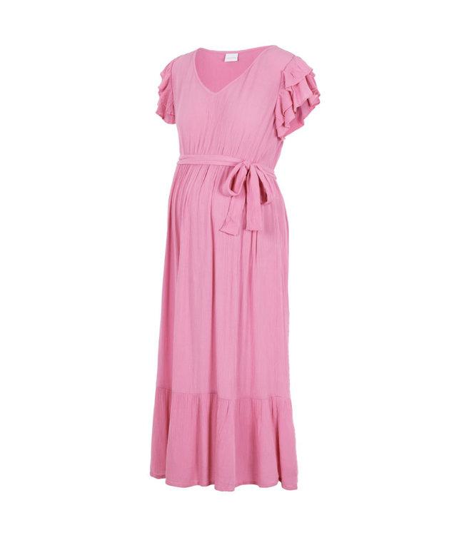 Mlarisa capsleeve midi pink dress