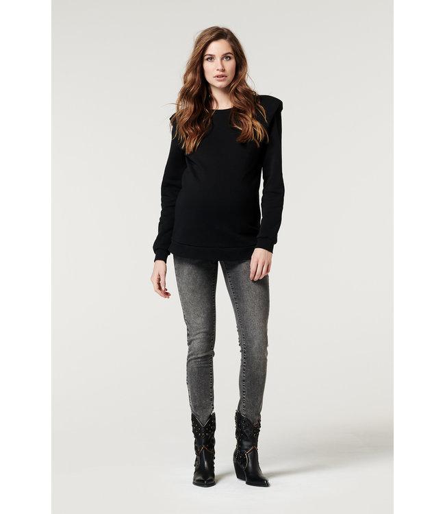 Supermom Sweater Shoulderpad black