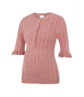 Mamalicious Mlhealy knit top Berry nursing