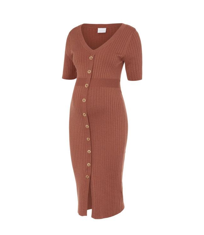 Mldia knit Dress copperbrown