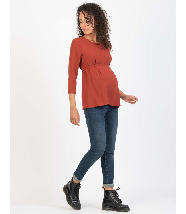 Blouse Che mouw roest