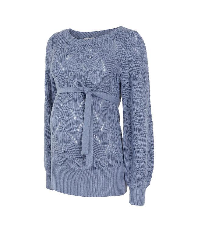 Mamalicious Mlanna knit trui blauw