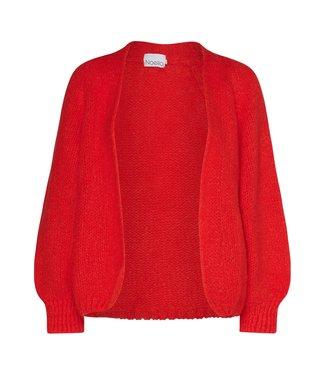 Noella Fora knit cardigan orange/red