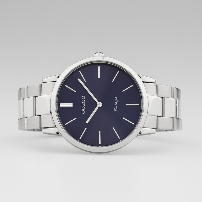 OOZOO Vintage  - C20020 - Herren - Edelstahl - Glieder-Armband - Silber