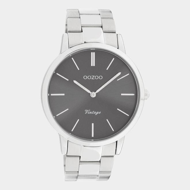 OOZOO Vintage - C20020 - Damen - Edelstahl - Glieder-Armband - Silber