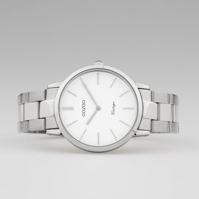 OOZOO Vintage  - C20026 - Damen - Edelstahl - Glieder-Armband - Silber