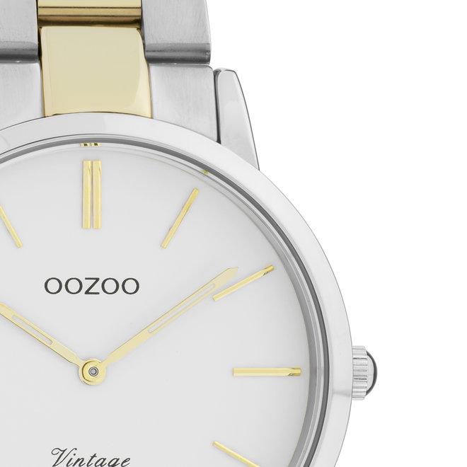 OOZOO Vintage  - C20032 - Damen - Edelstahl - Glieder-Armband - Bicolor/Silber