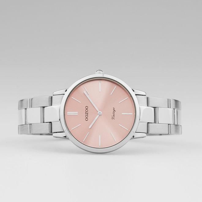 OOZOO Vintage  - C20040 - Damen - Edelstahl - Glieder-Armband - Silber
