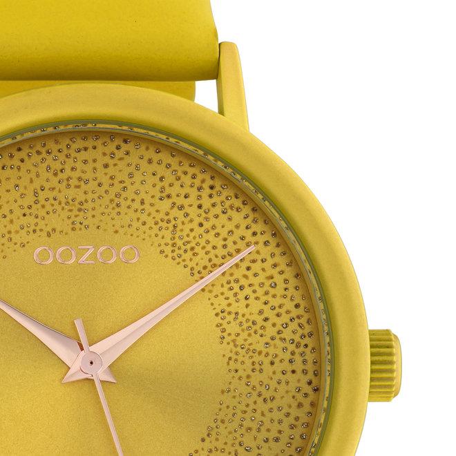 OOZOO Timepieces - Damen - Leder-Armband - Gelb/Gelb