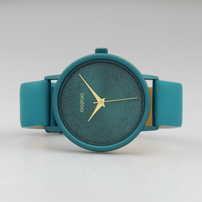 OOZOO Timepieces - C10581 - Damen - Leder-Armband - Blaugrün