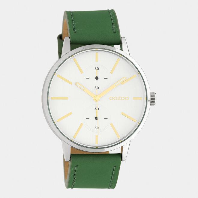 OOZOO Timepieces - C10586 - Damen - Leder-Armband - Grün/Silber
