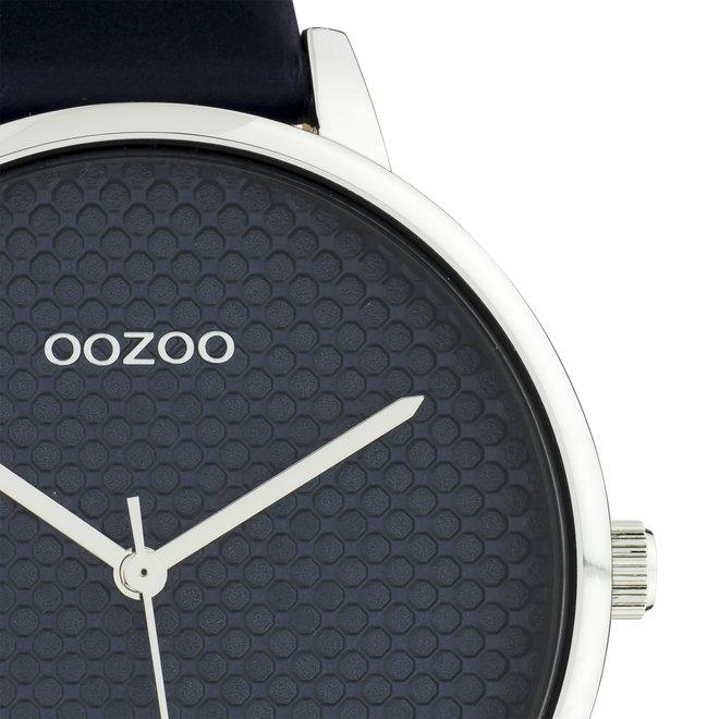 OOZOO Timepieces - C10594 - Damen - Leder-Armband - Dunkelblau/Silber
