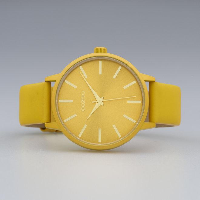 OOZOO Timepieces - C10613 - Damen - Leder-Armband - Senfgelb/Senfgelb