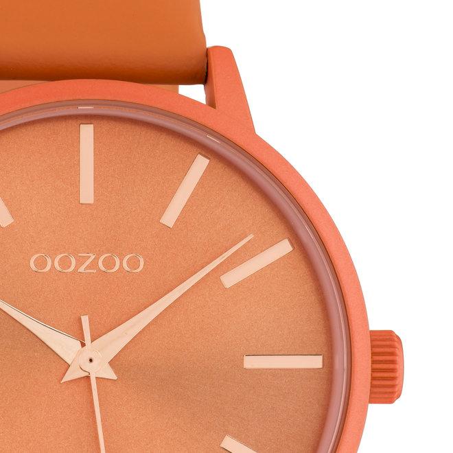 OOZOO Timepieces - Damen - Leder-Armband - Orange/Orange