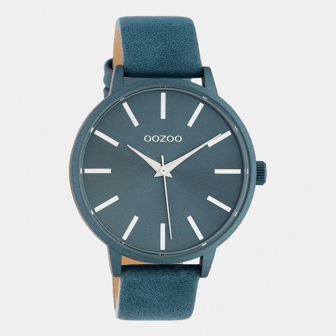 OOZOO Timepieces - Damen - Leder-Armband - Blau/Blau