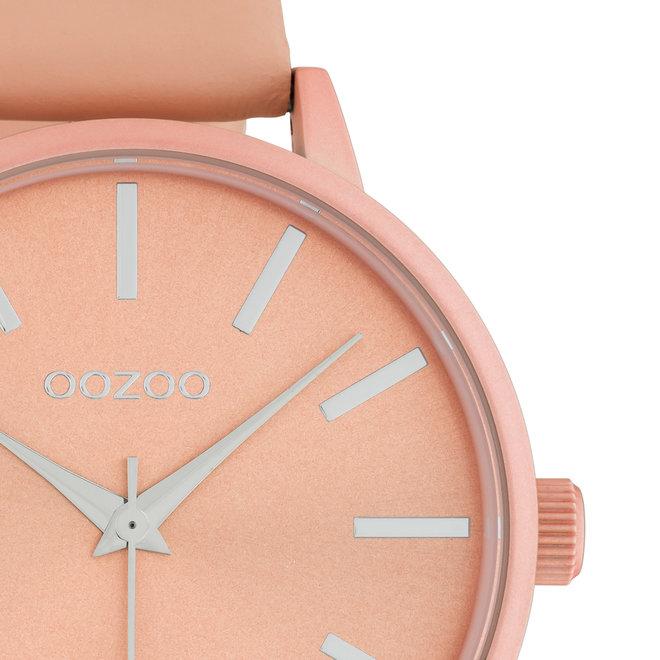 OOZOO Timepieces - Damen - Leder-Armband - Apricot/Apricot