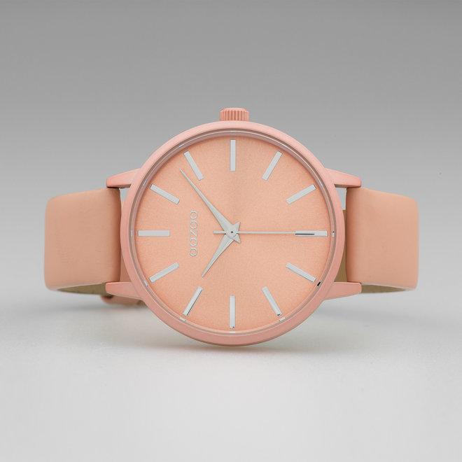 OOZOO Timepieces - C10617 - Damen - Leder-Armband - Apricot/Apricot