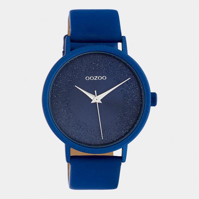 OOZOO Timepieces - C10583 - Damen - Leder-Armband - Blau/Blau